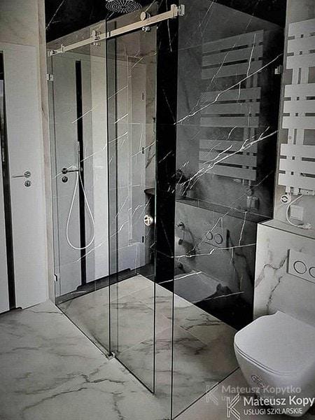 Zabudowa prysznicowa (bez brodzika)
